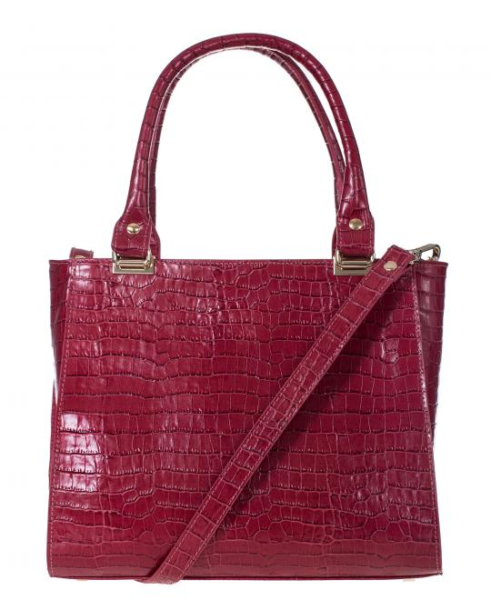 bordeaux leather bag
