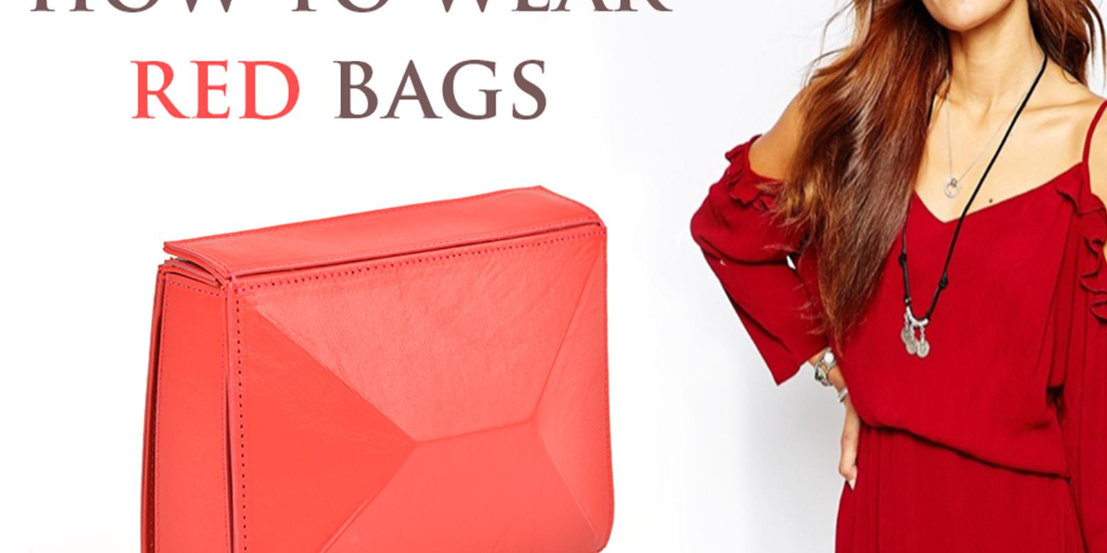 red leather bags