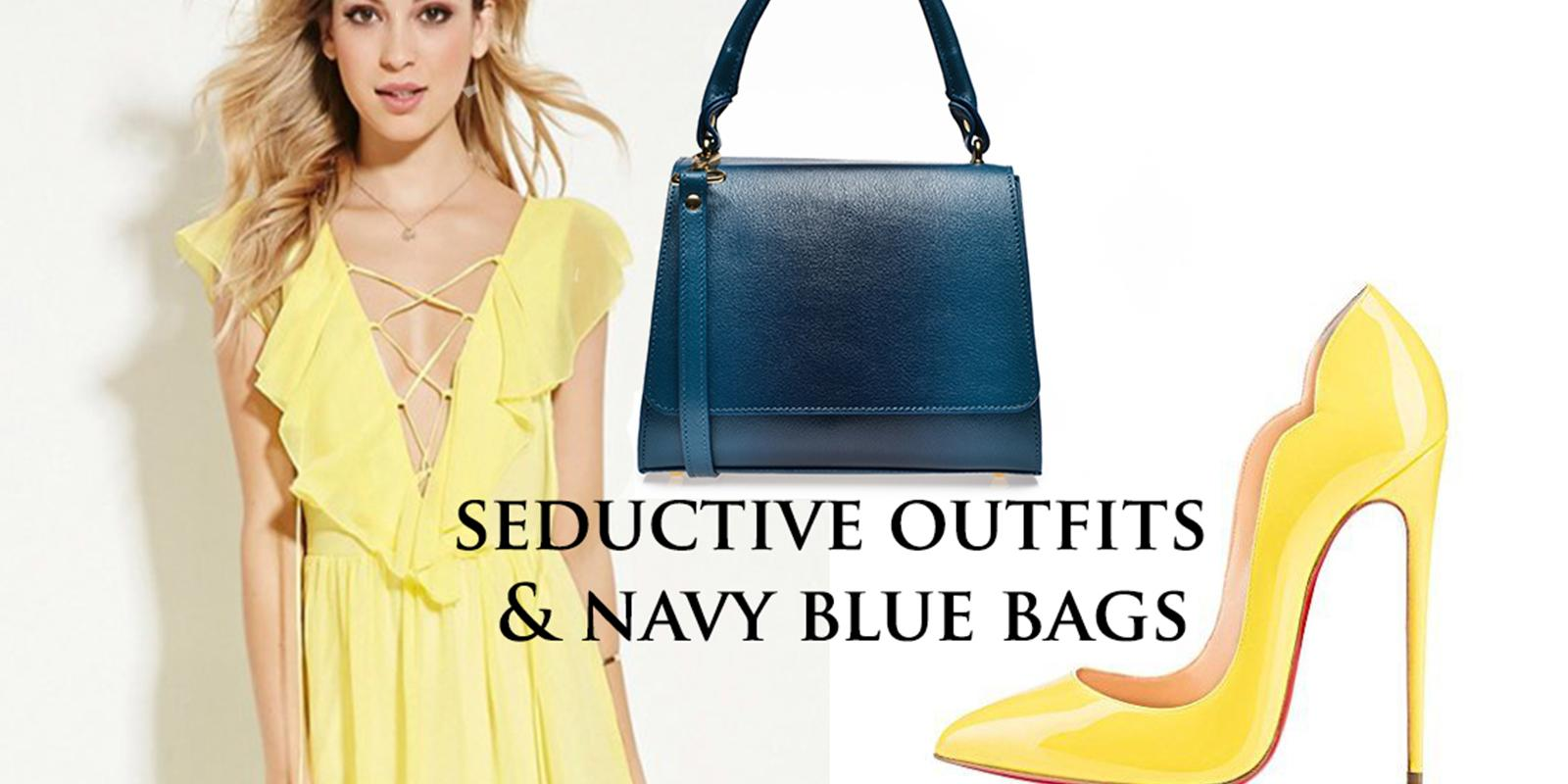 navy blue bags